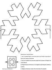 Natale pagina for Fiocco di neve da ritagliare